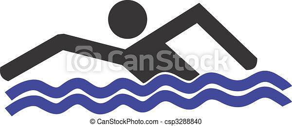 游泳logo素材