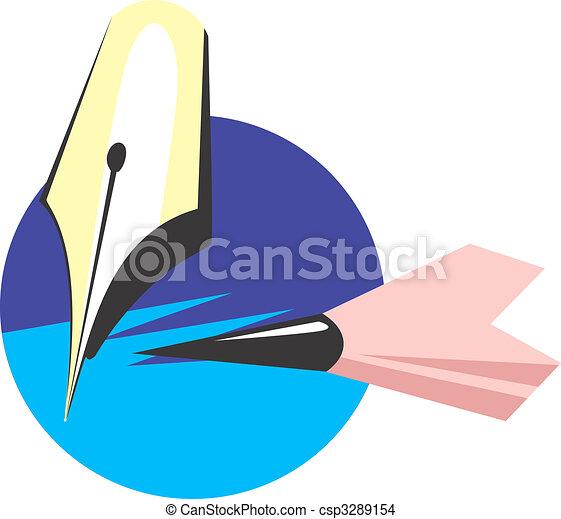 pluma, lápiz - csp3289154