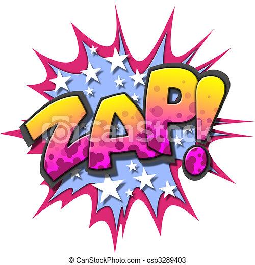 Zap Clip Art Drawings of Comic Book...