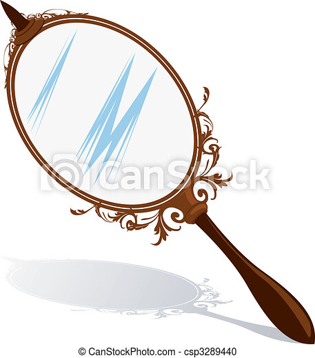 Stock de ilustration de espejo ilustraci n de un mano - Dibujos para espejos ...