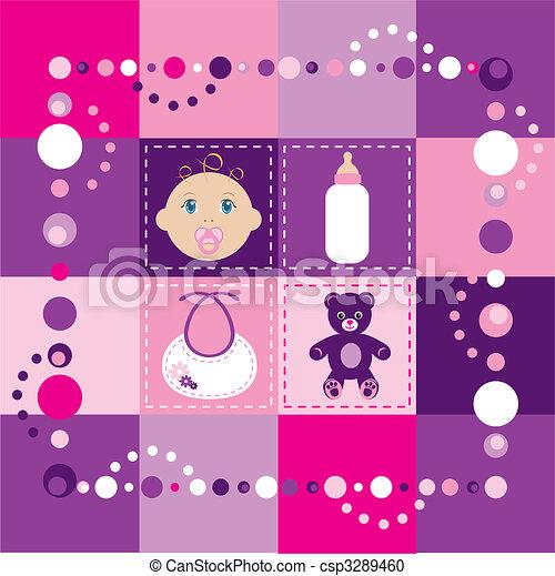 Baby Girl Quilt 2 - csp3289460