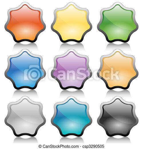 Button-Star - csp3290505