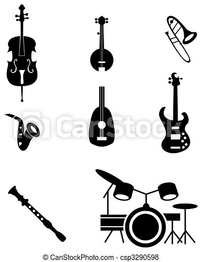 Musical Instrument Icon Set - csp3290598