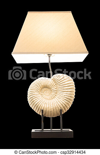 Lighting home lamp isolated on black background