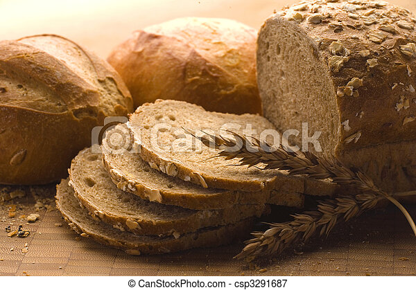 Loaves of baked bread - csp3291687
