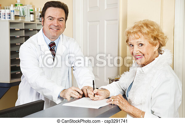 Filling Out Medical Forms - csp3291741