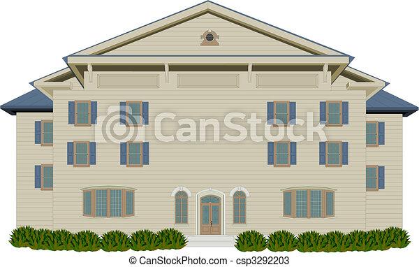 Wood Style Mansion - csp3292203