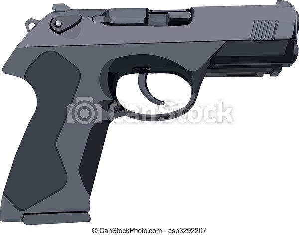 Gray Standard Gun - csp3292207