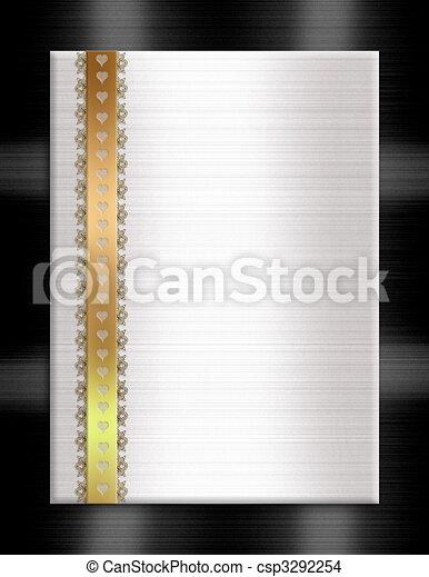 Formal invitation template gold black white - csp3292254