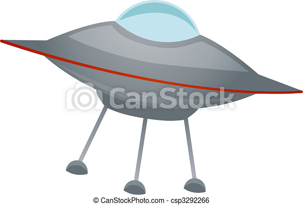 Isolated spaceship at an angle Vector - csp3292266