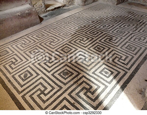 Stock Photography Of Black And White Floor Mosaics At The