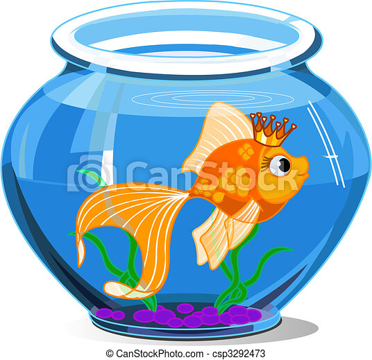 Fish Tank Drawing Gold Fish Drawings