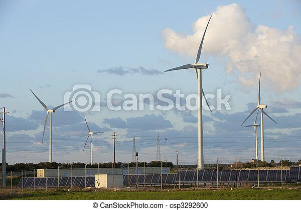 solar and wind energy - csp3292600
