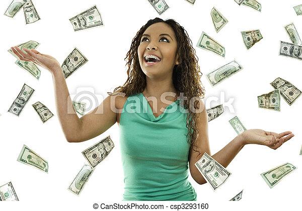 Its raining money - csp3293160