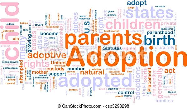 Adoption word cloud - csp3293298