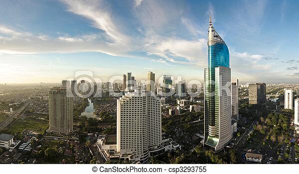 Modern cityscape - csp3293755