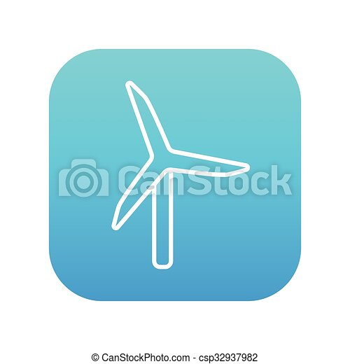 Windmill line icon. - csp32937982