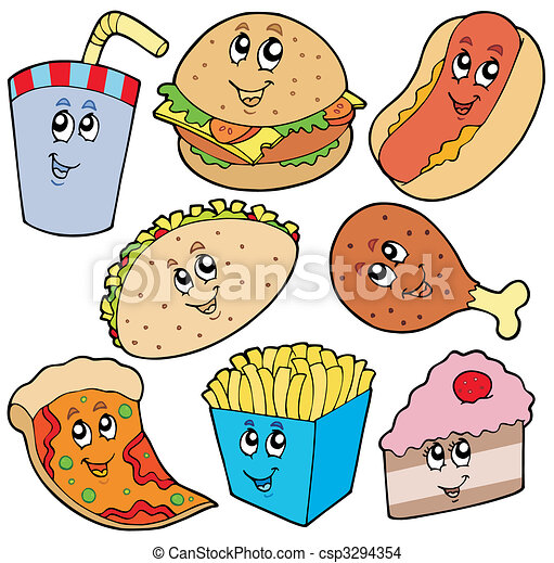 Fast food collection - csp3294354