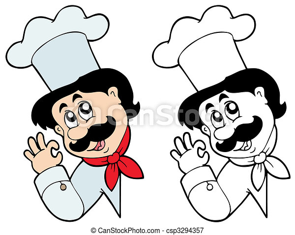 Lurking chef - csp3294357