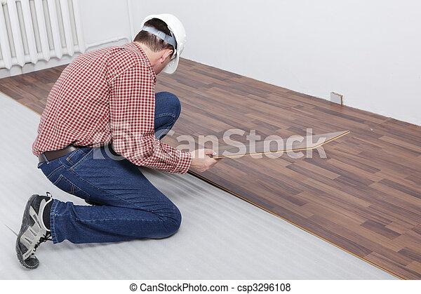 Laminate flooring installation - csp3296108