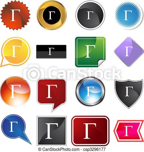 Greek Fraternity Symbol Icon - csp3296177