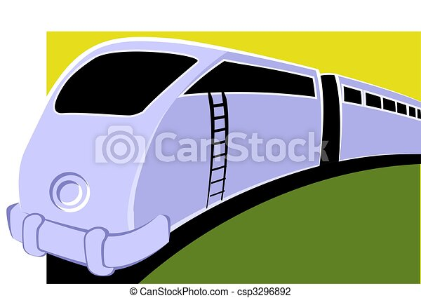 how to describe a train moving