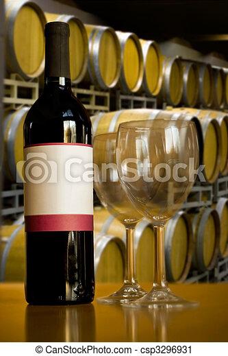 Winery Wine Tasting - csp3296931