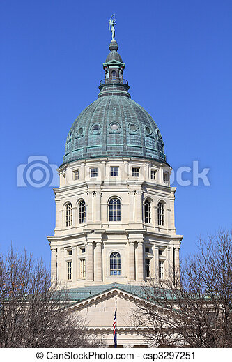 Kansas State Capitol Building Dome - csp3297251