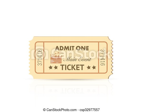 Admit One Ticket - csp32977557