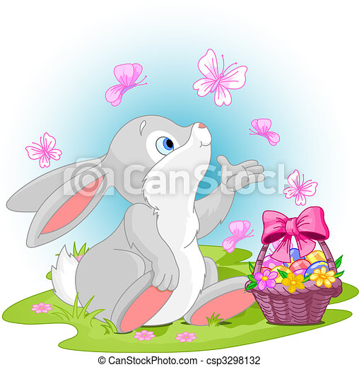 復活節,  bunny - csp3298132