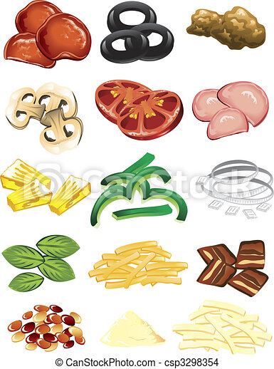 Pizza toppings - csp3298354