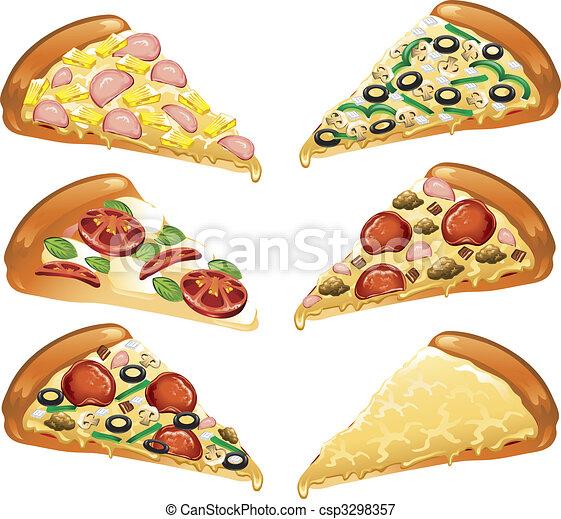 Pizza icons - csp3298357