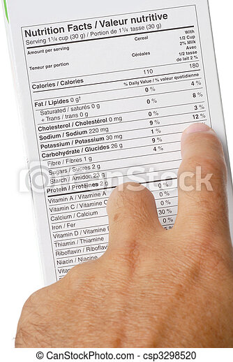 Nutrition Facts - csp3298520