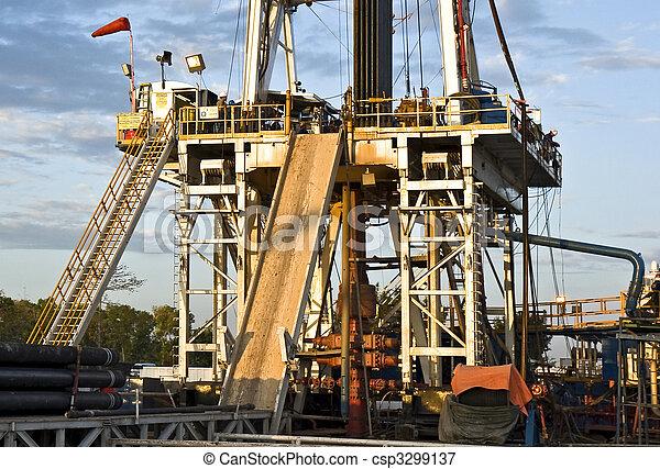 Oil rig - csp3299137