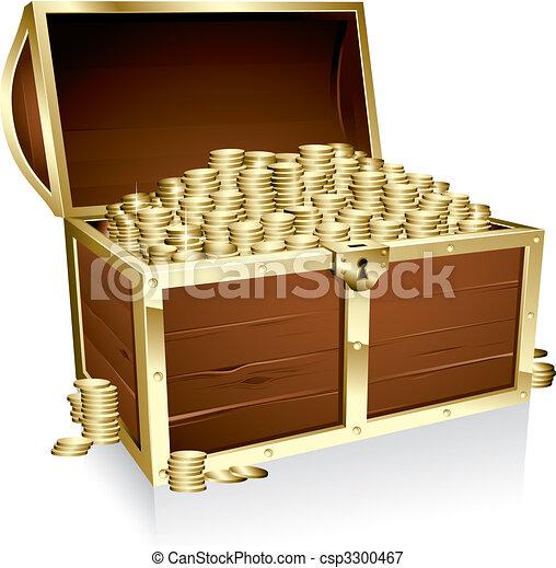 Empty treasure chest - csp3300467