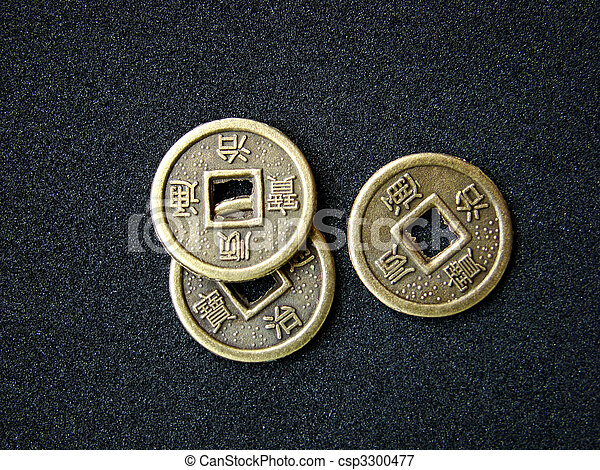 Chinese feng shui coins - csp3300477