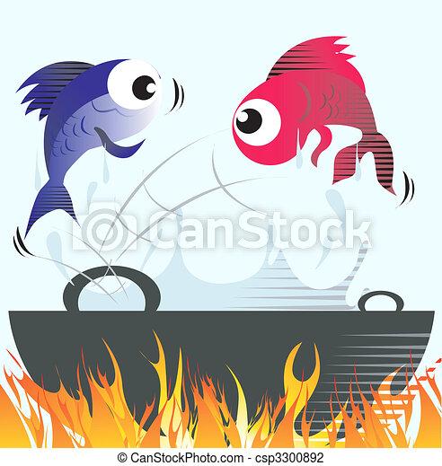 Frying fish - csp3300892
