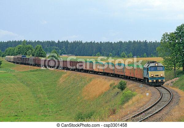 Freight diesel train - csp3301458
