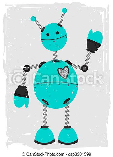 Adorable Robot Waving - csp3301599