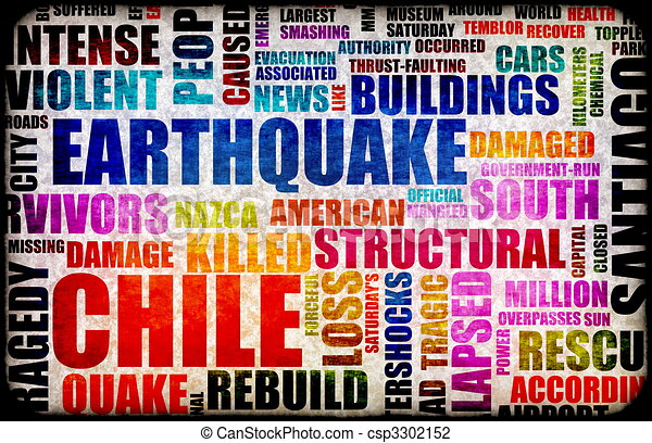 Clip Art of Chile Earthquake Crisis Disaster as a Concept ...