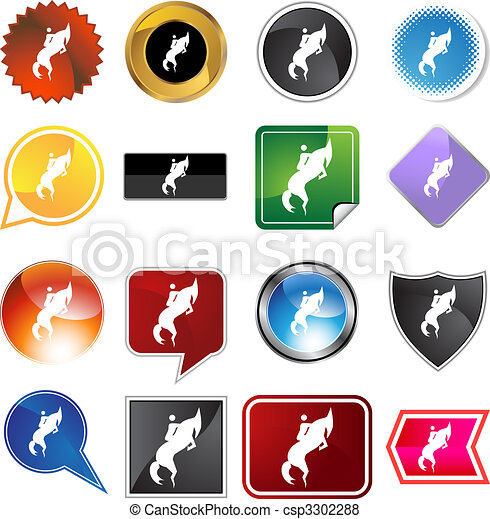 Horse Jockey Icon - csp3302288