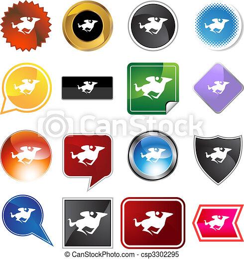 Horse Jockey Icon - csp3302295