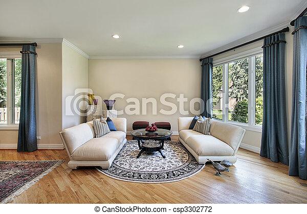 Living room in suburban home - csp3302772