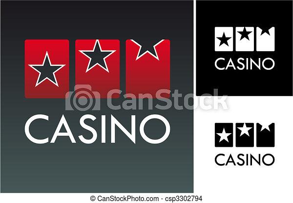 Slot and casino logo - csp3302794