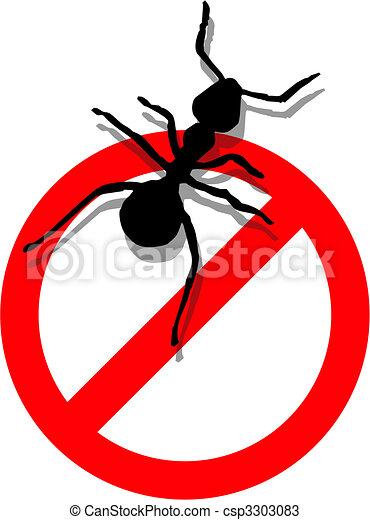 Forbidden to enter ants - csp3303083