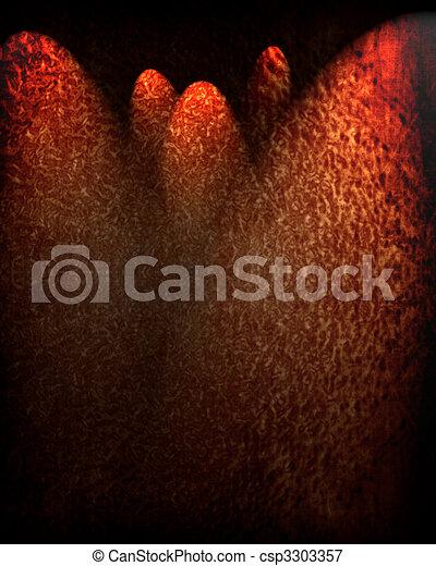 Dark animal skin - csp3303357