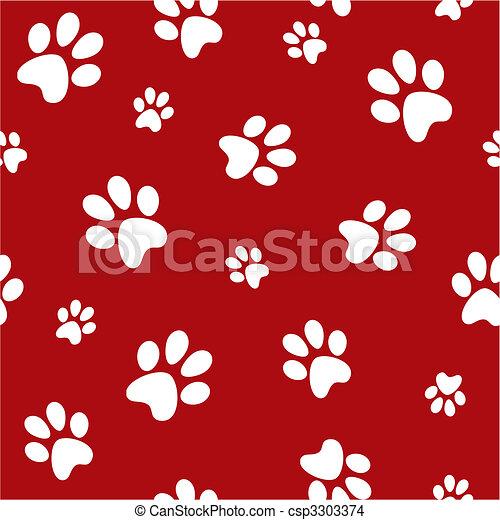 dog footprints - csp3303374