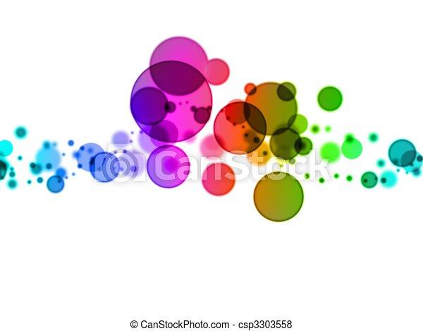 blurry dots  - csp3303558