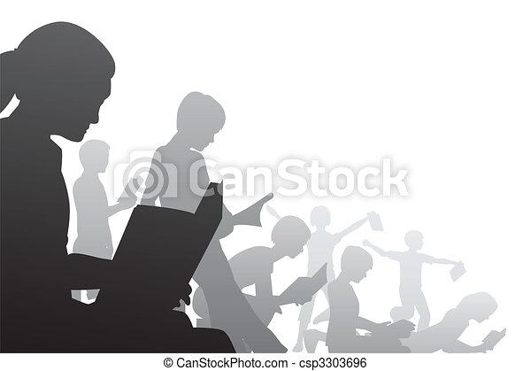 Book kids - csp3303696