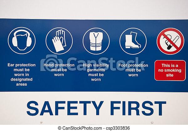 första, säkerhet, underteckna - csp3303836